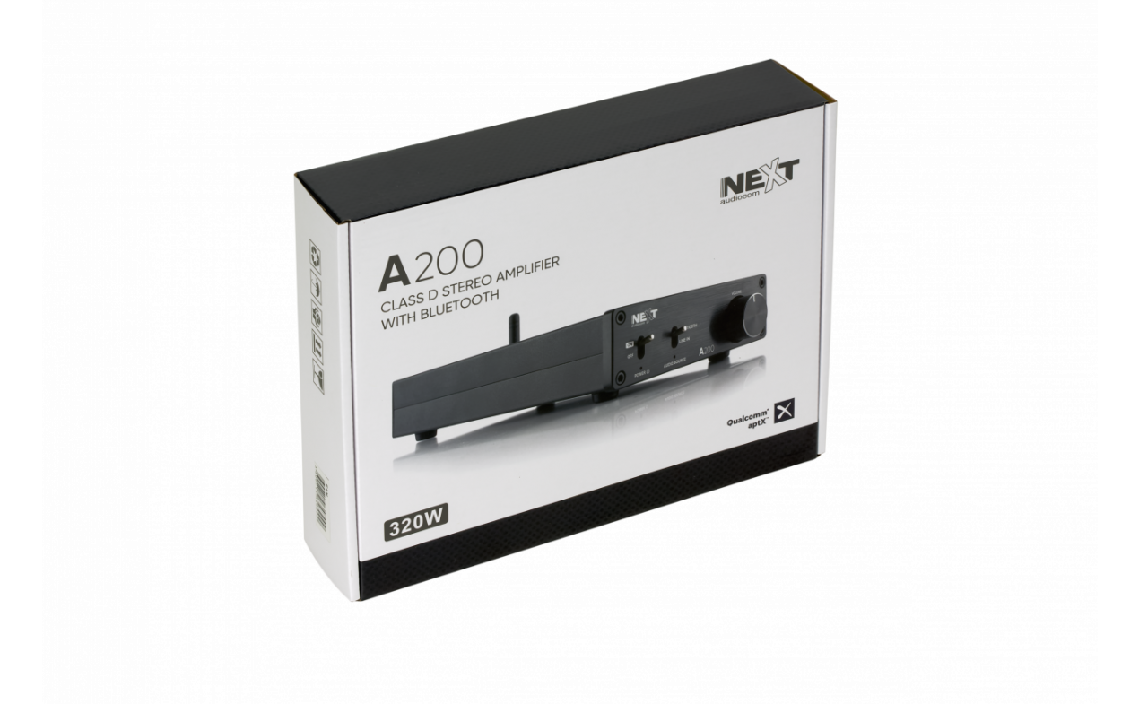 Next audiocom A200 -stereo pojačalo 200W - Bluetooth